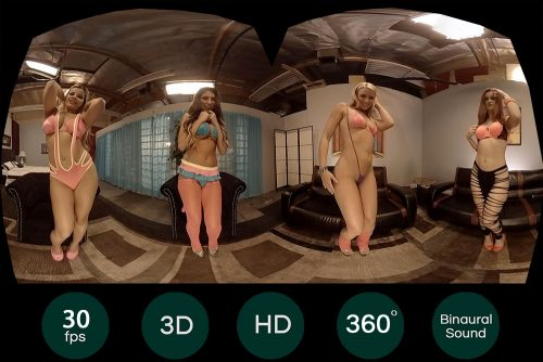 4 Naked Porn Stars Show You Everything VR Porn Movie