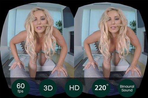 Blonde Australian Porn Star Solo Show VR Porn Movie
