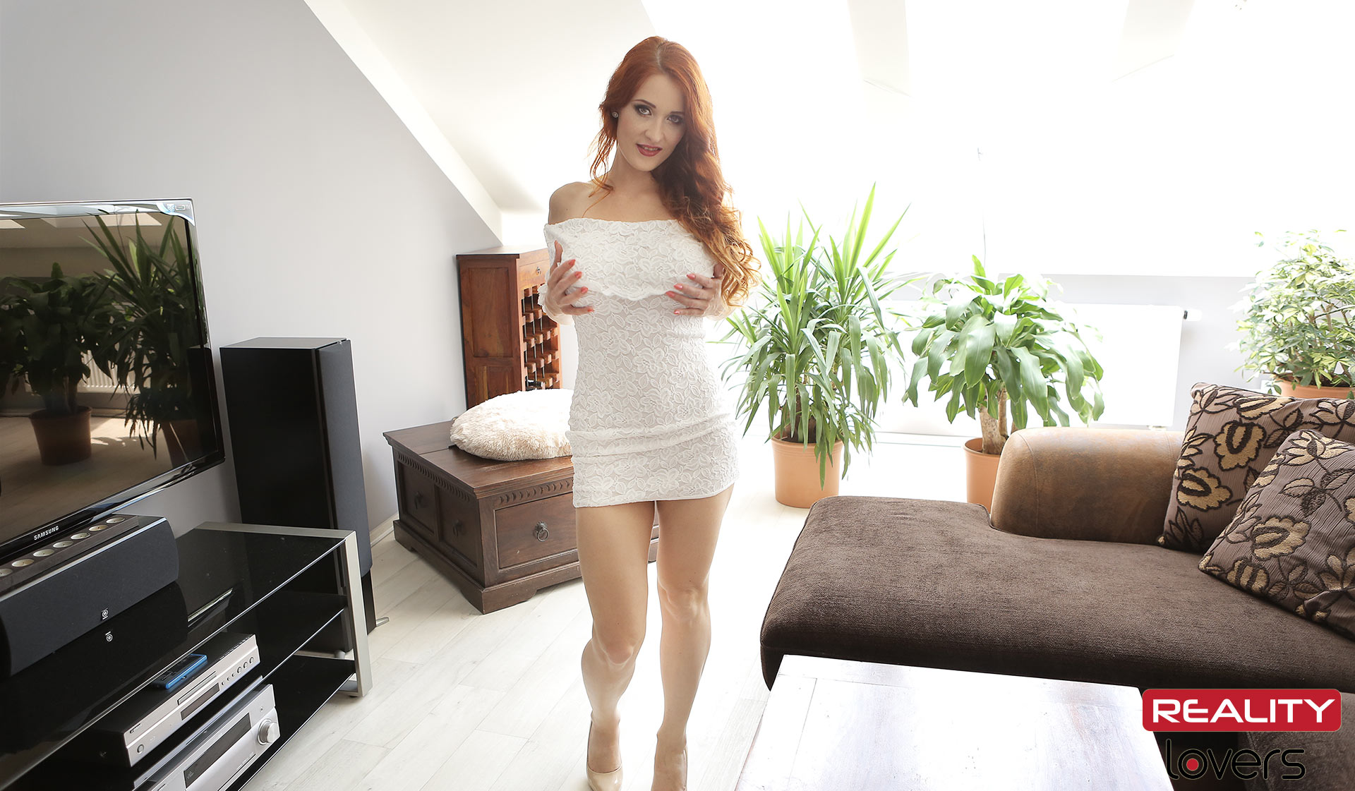 Busty Redhead Gets Pussy & Anal Fucked VR Porn Movie