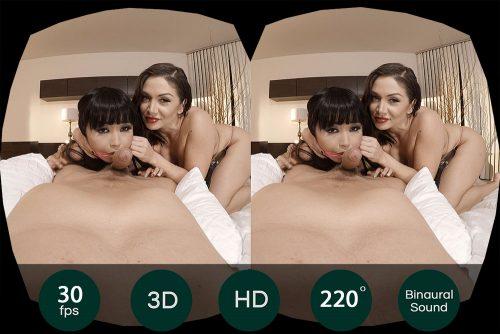 Dominatrix Puts Female Slave On Your Cock VR Porn Movie