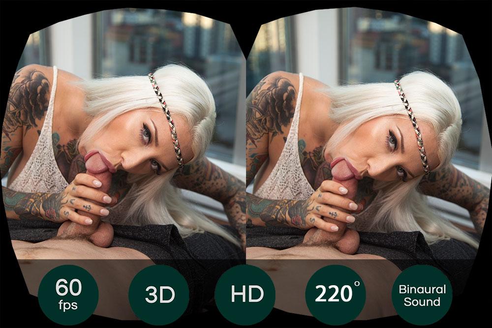 Fuck Blonde Tattoo Chick With Massive Tits VR Porn Movie