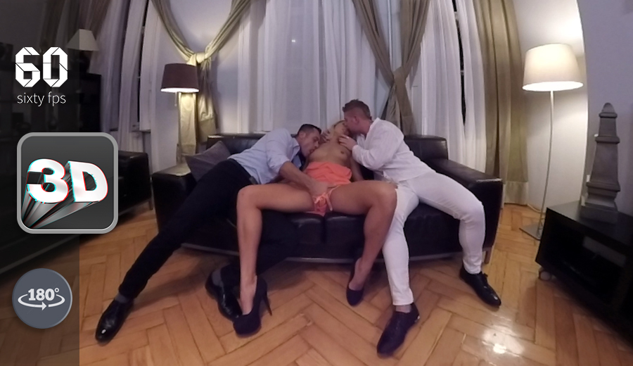 Watch 2 Guys Fuck Christen Courtney VR Porn Movie
