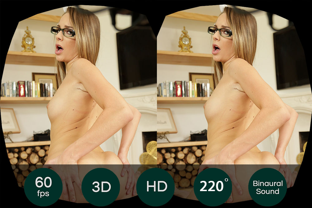 Fuck Nerdy Gamer Girl With Small Tits VR Porn Movie