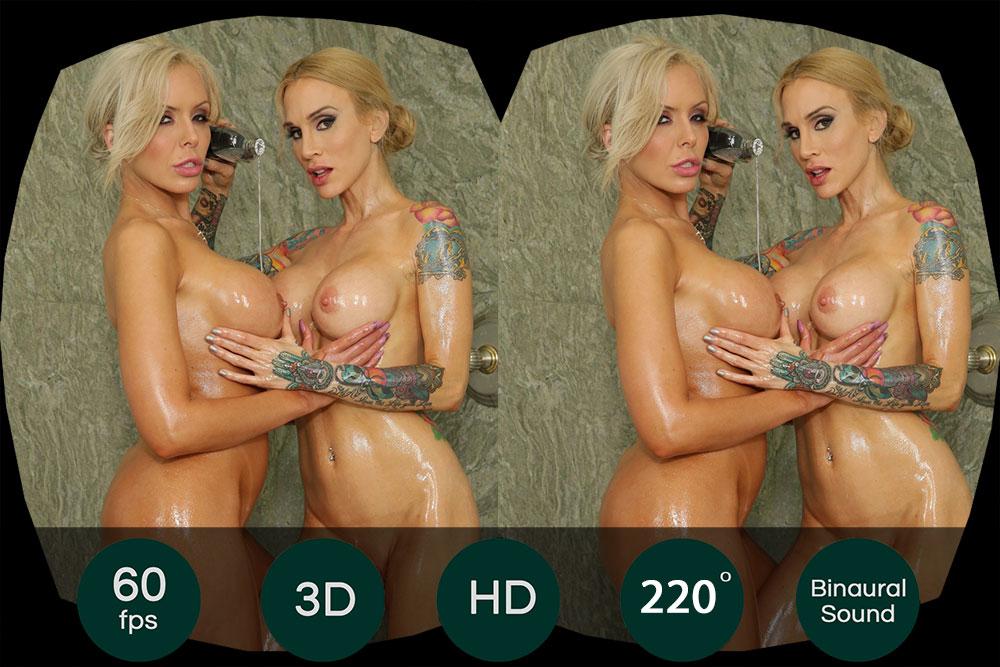 Wet Blonde Lesbian Games VR Porn Movie