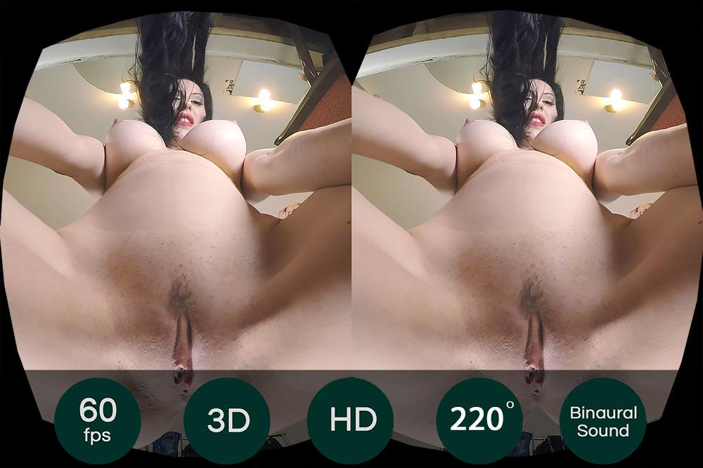 Black Hair Stripper's Pussy Closeup VR Porn Movie