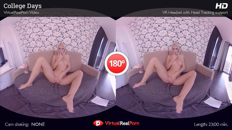 Watch Masturbating Petite Blonde Pissing VR Porn Movie