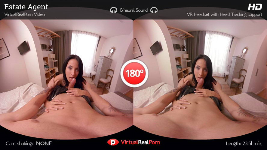 Fuck with Pretty Brunette with Big Tits VR Porn Movie