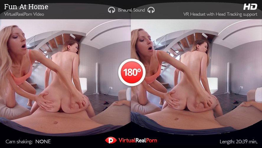 Threesome with 2 Girls VR Porn Movie