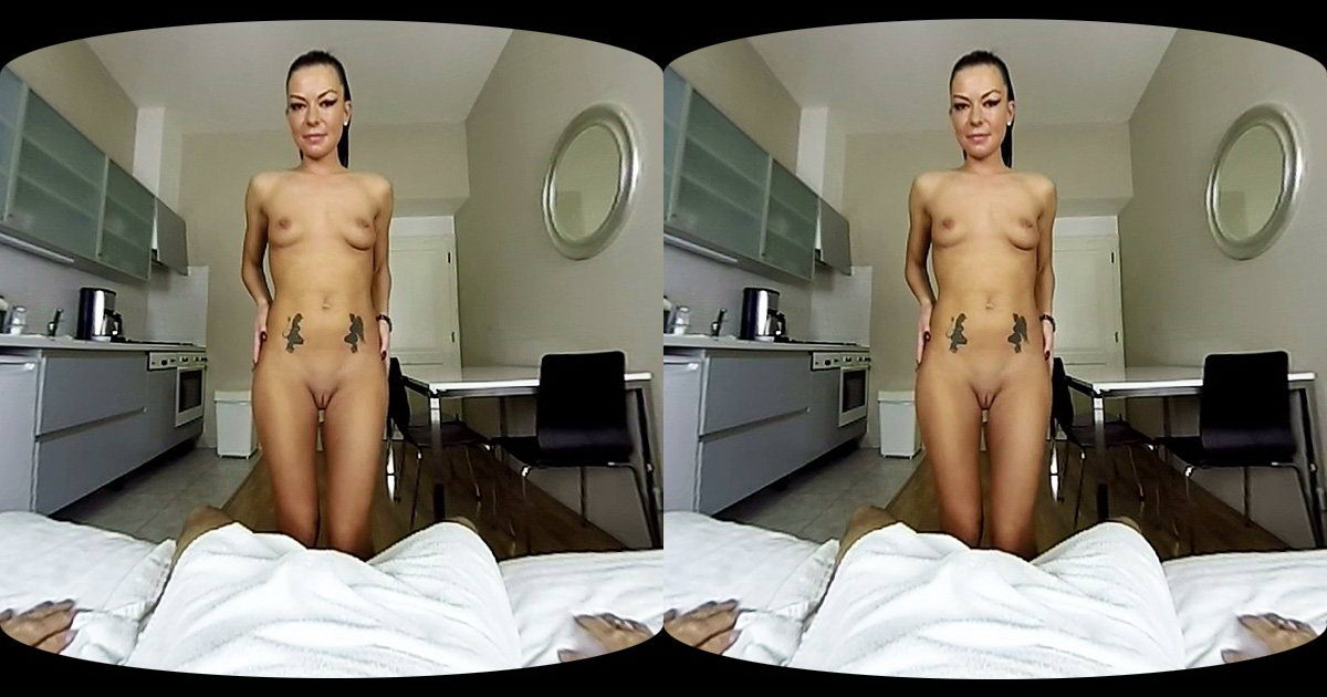 Cum With Sexy Brunette Slut VR Porn Movie
