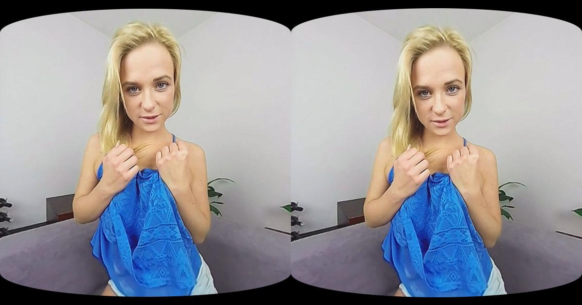 Masturbation Show of Blonde Czech Hottie VR Porn Movie