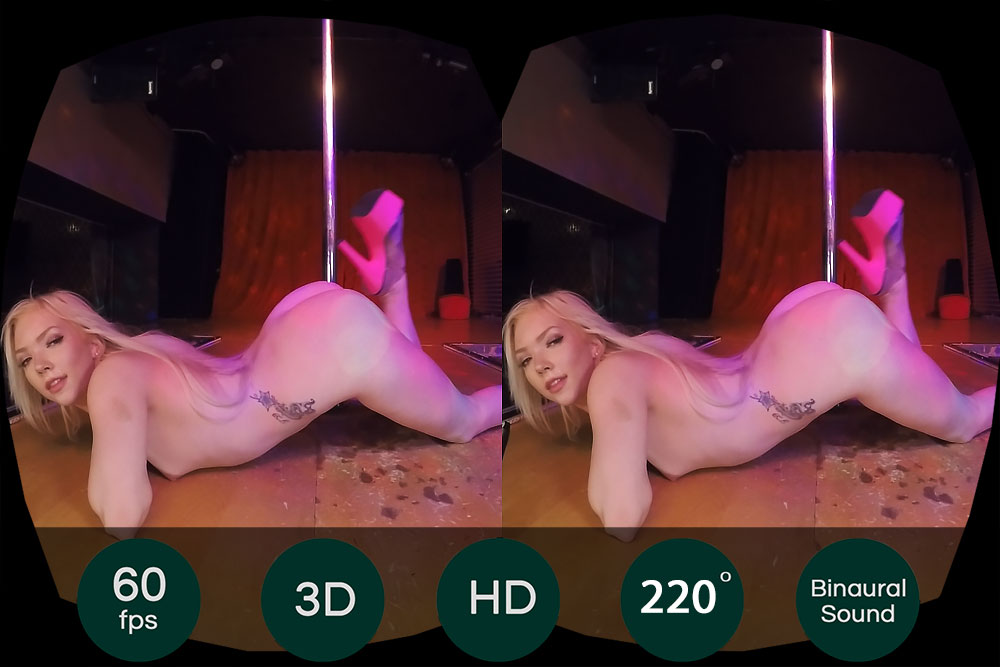 Blonde Private Stripper Show VR Porn Movie