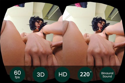 Close Up Fingering of Black Hair Chick VR Porn Movie