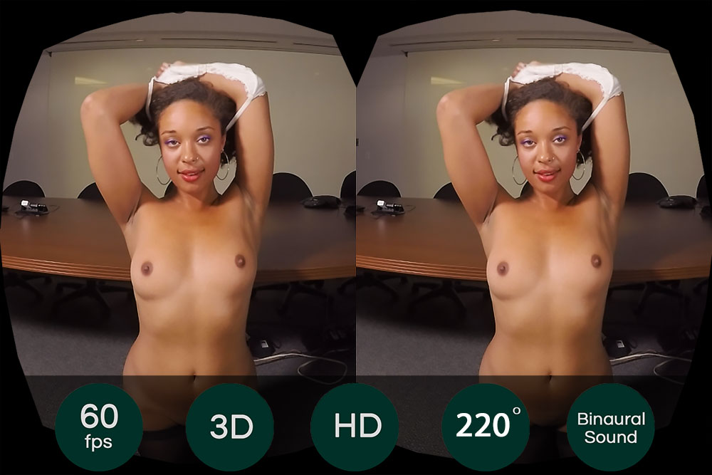 Natural Black Beauty Shows Her Pussy VR Porn Movie