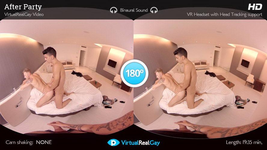 Hot Gay Threesome VR Porn Movie