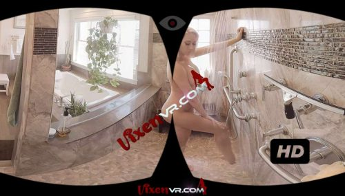 Blonde Babe With Big Tits In Shower VR Porn Movie