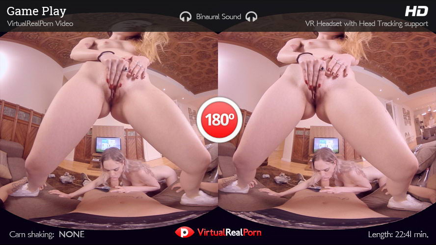 Threesome With 2 Hot Girls While Playing Fifa VR Porn Movie