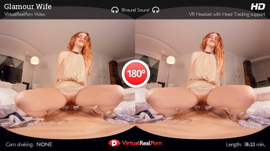 Glamour Glossy Readhead Fuck VR Porn Movie