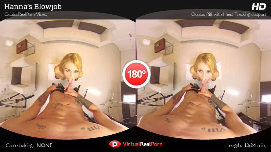 Blow Job from Busty Blonde VR Porn Movie