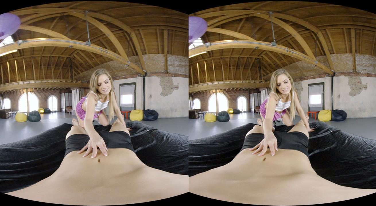 Bang Hot Blonde Girl At Home VR Porn Movie
