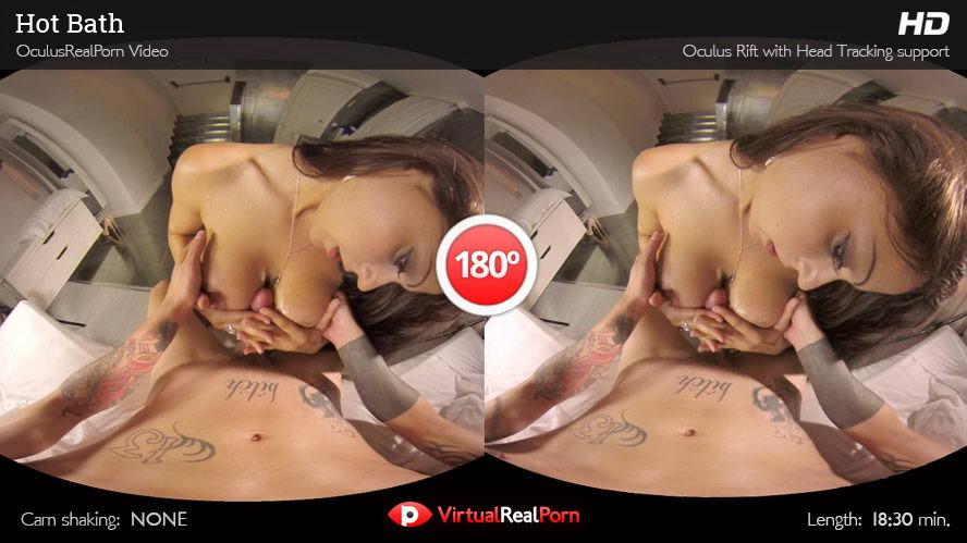 Brunette with Big Tits Wet Sex VR Porn Movie