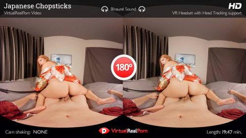 Redhead Asian Geisha Fuck VR Porn Movie