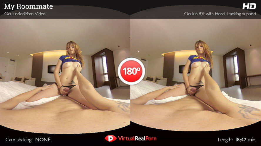 Fuck Sexy Skinny Student Roommate VR Porn Movie